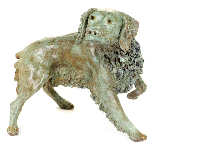 Attributed to Daniele  Perazzi (Italian, born 1932) A standing Spaniel height 23 in. (58.4 cm.)