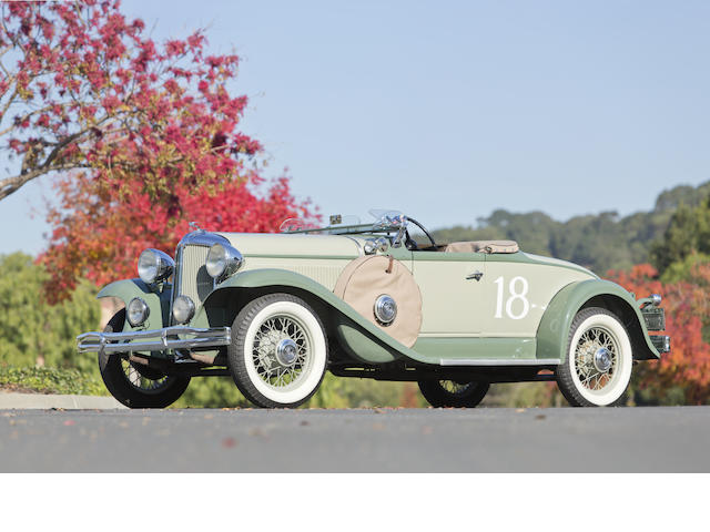 From the Martin Swig collection,1931 Chrysler CM-6 Sport Roadster  Chassis no. 6 532 542 Engine no. CM 14224