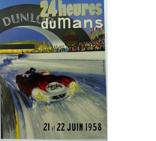 A rare 1958 Le Mans poster,