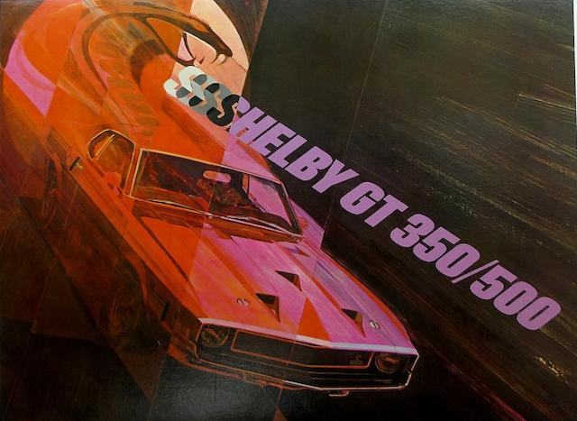 An official Shelby GT 350/500 poster, c. 1969,