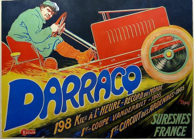 A Darracq by Thor advertising poster, c. 1905,