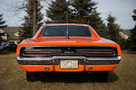 "An original ""Dukes of Hazzard"" stunt car,1969 Dodge Charger ""General Lee""  Chassis no. XP29G9B388140"