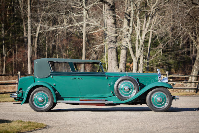 1931 Minerva Model AL 'Windswept' Convertible Sedan  Chassis no. 80105