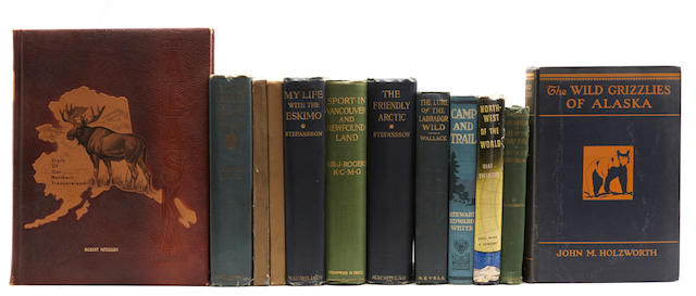 POLAR EXPLORATION & HUNTING. 26 volumes on exploration and hunting in the polar regions, ca.1900-ca.1920,