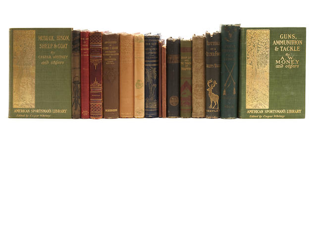 SPORTING AND FIREARMS. 28 volumes on sporting, guns, dogs, etc, 1880s-1920s,