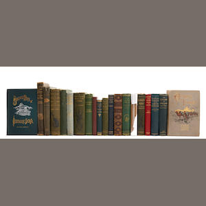 INDIA AND BEYOND.  20 volumes on exploration and big game hunting, various places: various publishers, 1870s-1920s, 8vo to 4to, original cloth (many with decoration),