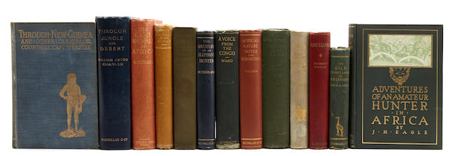 AFRICAN EXPLORATION & HUNTING. 25 volumes on exploration and big game hunting, 1880s-1920s,