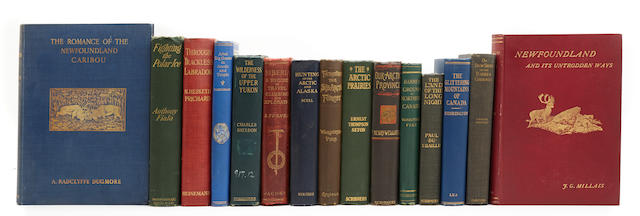 POLAR EXPLORATION & HUNTING.  15 volumes on Arctic and Antarctic exploration, 1880s-1920s,