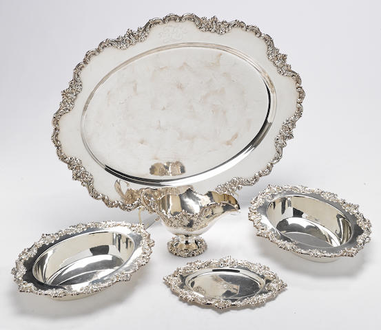 A sterling partial table suite by Shreve & Co., San Francisco, CA, circa 1900 <BR />Monogrammed: Z  (5)