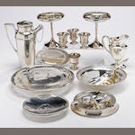 A group of sterling table articles  (19)