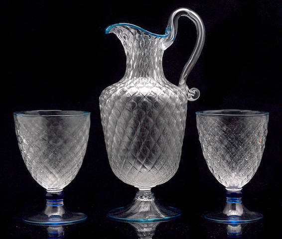 A group of Venetian glassware