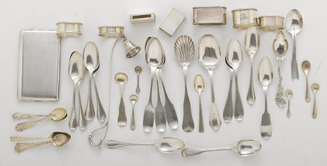 A group of assorted silver flatware and other items  (39)