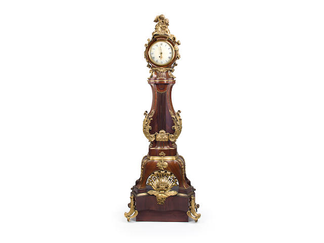 A Régence gilt bronze mounted regulateur by J. B. Baillot<BR />first quarter 18th century
