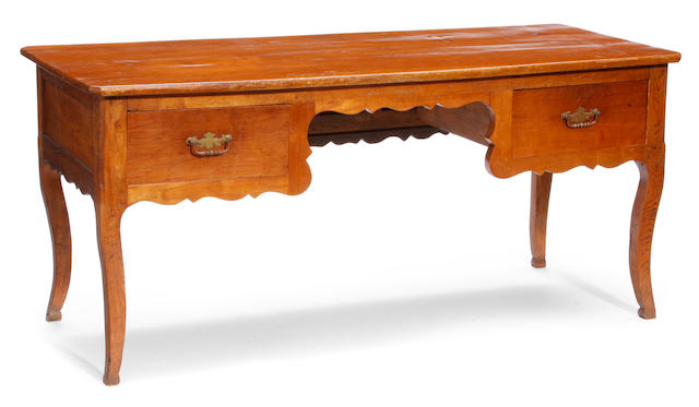 A Louis XV style walnut writing desk