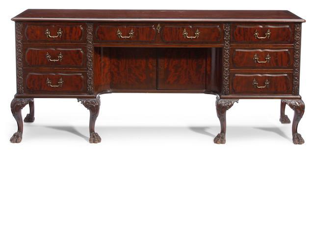 A George II style mahogany sideboard