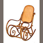 An Austrian bentwood rocker late 19th century