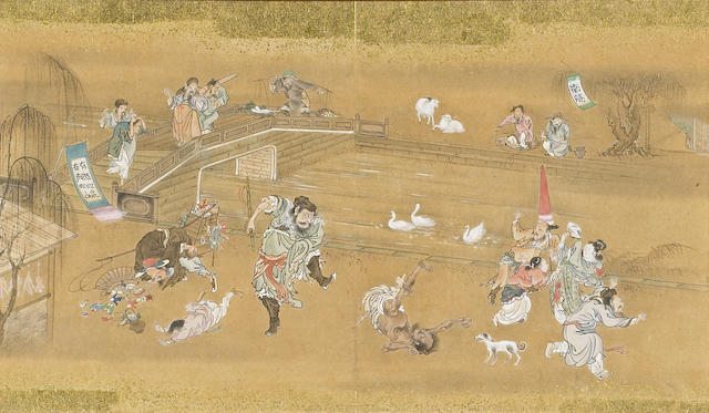 Anonymous Kano School (19th century): Scenes from The Water Margin