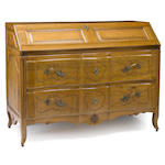 An Italian Rococo walnut slant front desk <BR />late 18th century