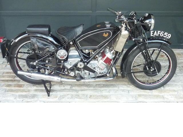 1938 Scott Flying Squirrel Frame no. 4550 Engine no. DPZ 4610