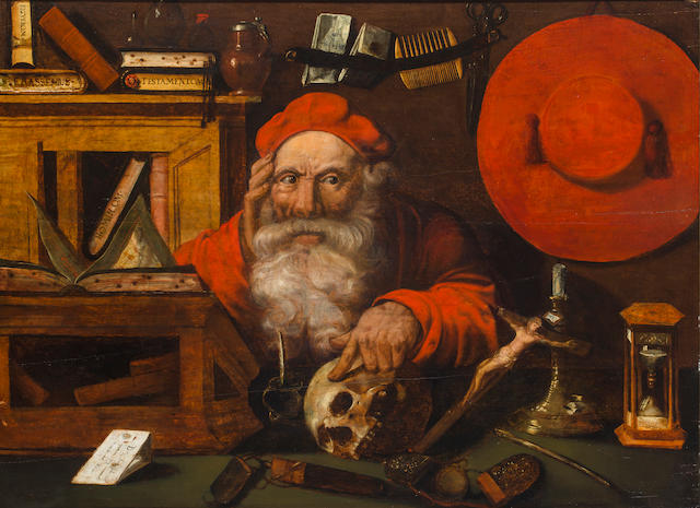 Dutch School, 19th Century Saint Jerome in his study 25 x 35in (63.5 x 89cm)
