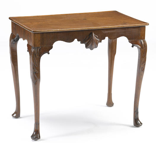 An Irish George III carved mahogany silver table