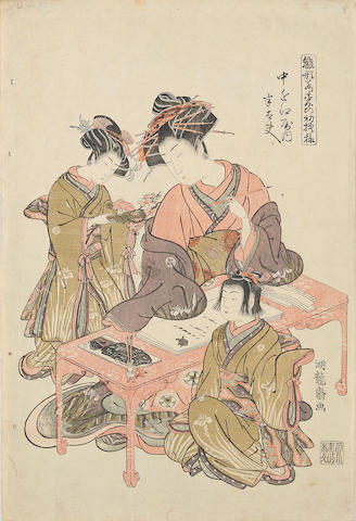 Isoda Koryusai (fl. 1764-1788) One woodblock print