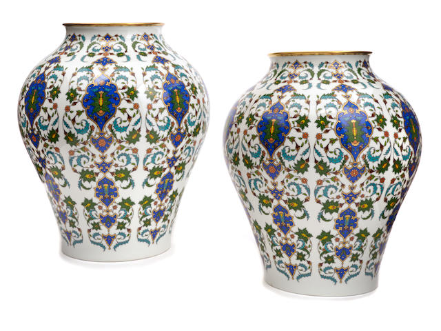 A pair of Hutschenreuther porcelain vases