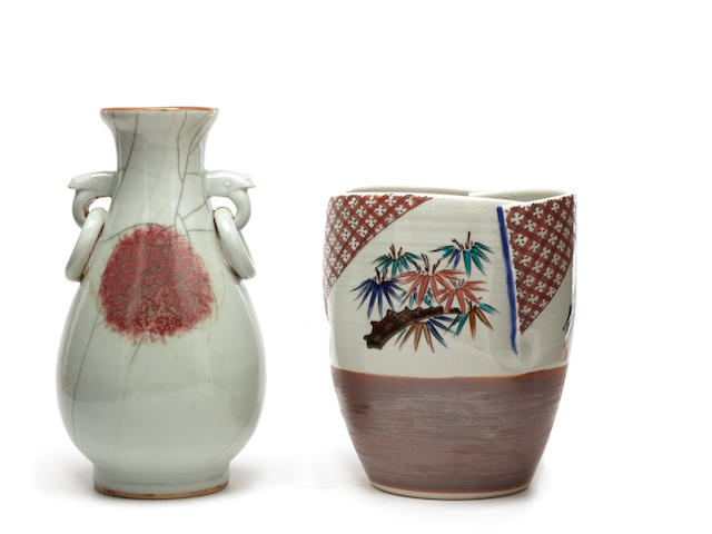 A group of contemporary Japanese porcelain