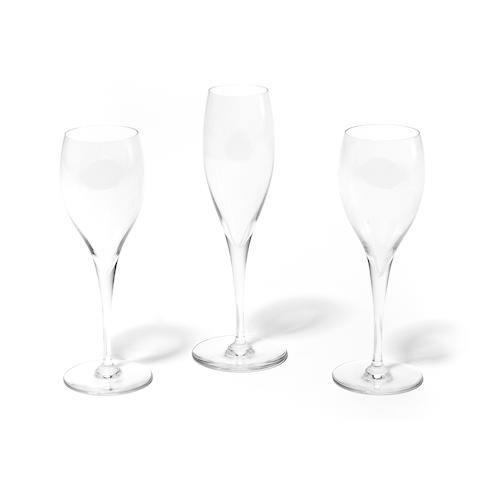 A suite of Baccarat glassware