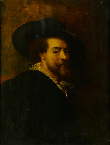 Guilio  Bertoncelli A self portrait, after Rubens 22 x 16in