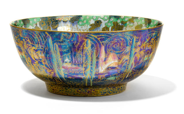 A Wedgwood Fairyland lustre bowl designed by Daisy Makeig-Jones, circa 1925