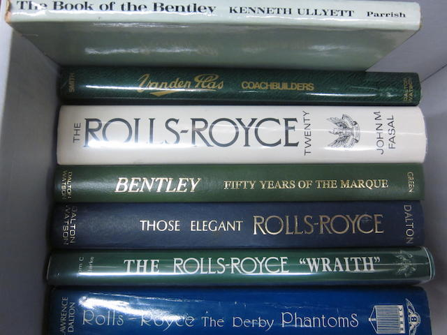 A grouping of Rolls-Royce and Bentley related titles,