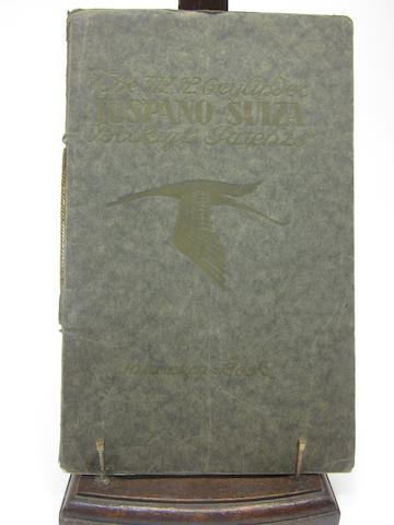 A Hispana-Suiza 372 hp six-cylinder instruction book