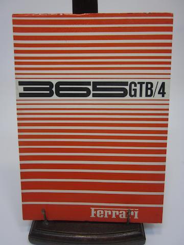 A Ferrari 365 GTB/4 handbook,