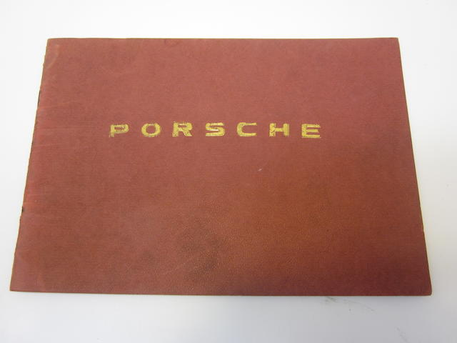 A Porsche 356 Pre-A Owner's Manual,