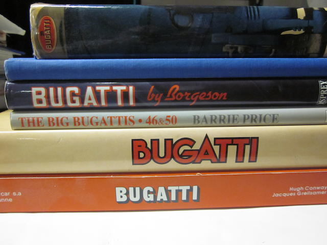 A lot comprised of Bugatti related titles,
