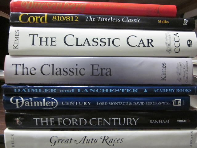 A mixed lot of Automobile history and specific marque titles,