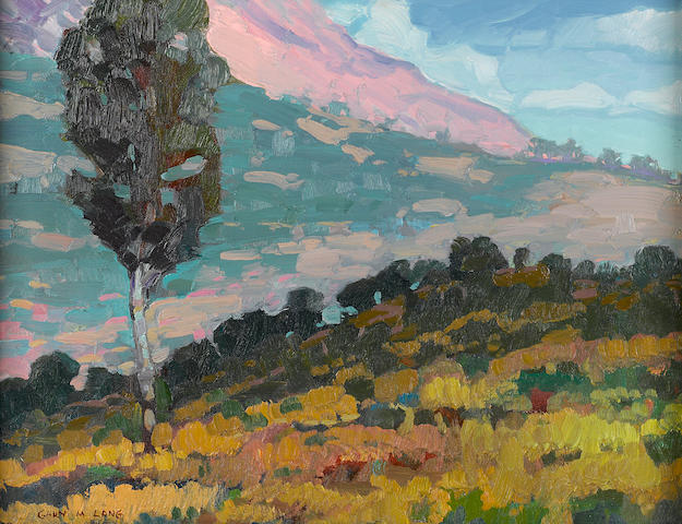 Gary Lang, Rhapsody in Color, La Costa, 14 x 18in, oil on board