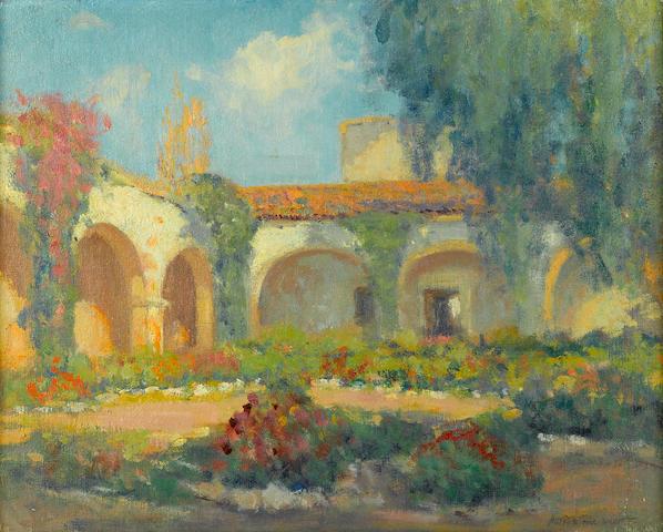 Arthur Hill Gilbert (American, 1894-1970) Mission Arches, San Juan Capistrano 16 x 20in