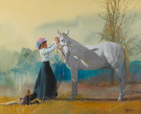 "Donald ""Putt"" Putnam, English (horse and young girl)"