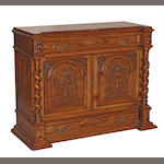 A Continental Renaissance style walnut cabinet fourth quarter 19th century