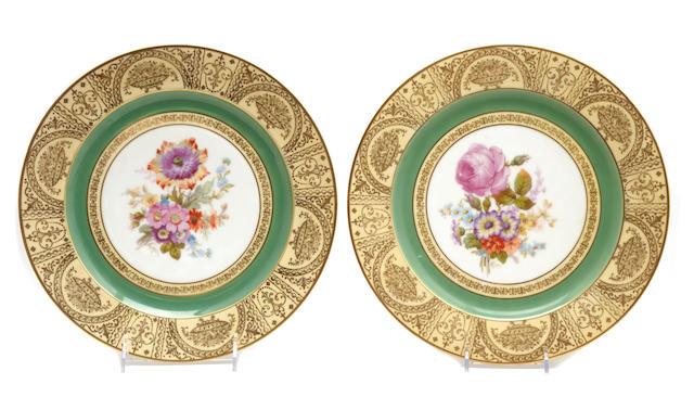 A set of twelve German porcelain plates