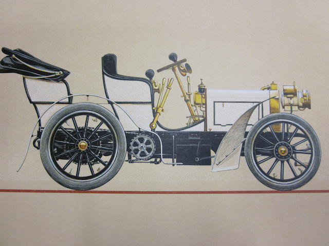 A limited edition set of Mercedes-Benz woodblock prints,