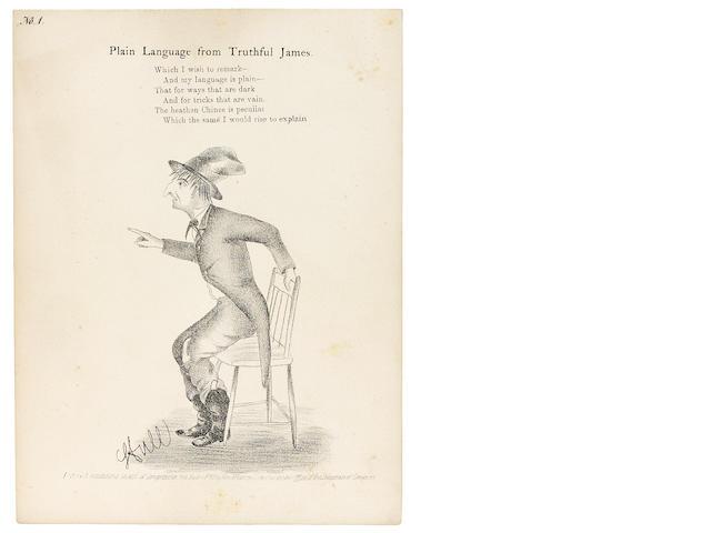 HARTE, BRET.  HULL, JOSEPH, illustrator. The Heathen Chinee. Chicago: Western News Company, 1870.