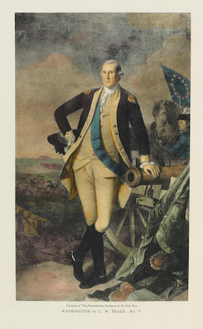 [WASHINGTON, GEORGE. 1732-1799.] MORGAN, JOHN HILL and MANTLE FIELDING. The Life Portraits of Washington and their Replicas. Philadelphia: printed for subscribers, 1931.
