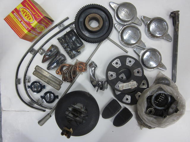 A lot of Lagonda V-12 spares and parts,