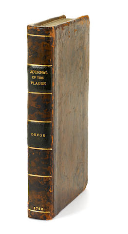 DEFOE, DANIEL. 1660-1731.  A Journal of the Plague Year: Being Observations or Memorials, of the Most Remarkable Occurrences ... which happened in London during the Last Great Visitation in 1665. Written by a Citizen.... London: E. Nutt, J. Roberts [et al.], 1722.