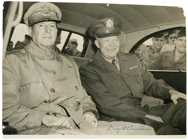 Dwight D. Eisenhower and Douglas MacArthur  [May 1946]