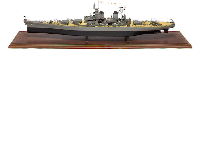 Cased Ship model of Battleship USS Missouri