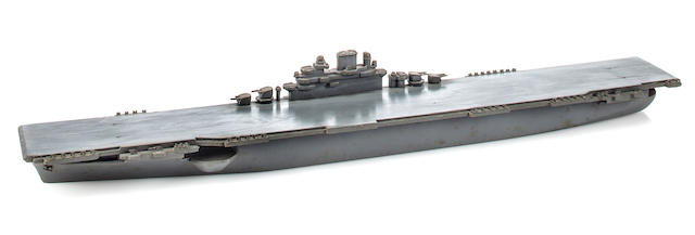 A recognition model of a U.S.S. Essex class carrier  May 1945 21 in. (53.3 cm.) length.